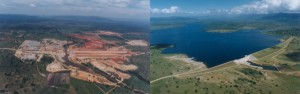 Before and after of Driekoppies dam